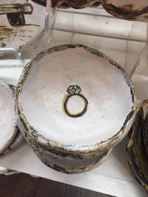 Etta B Pottery  Wedding Ring Dish EBP-487 $22.00