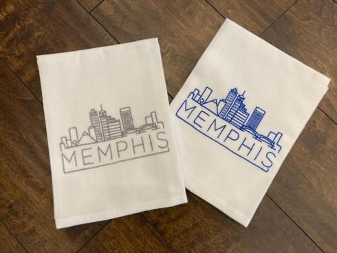 Babcock Exclusives  Hanging By a Thread Memphis Skyline Towel LT Gray HBT-207 $15.50