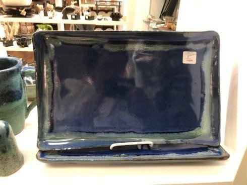 Babcock Exclusives  Kerry Brooks Pottery Straight Edge Large Rectangular Tray KER-268 $86.00