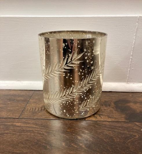 Babcock Exclusives  Shishi Home of Beauty Silver Glass Cylinder w/Rye Cut SHI-011 $29.00
