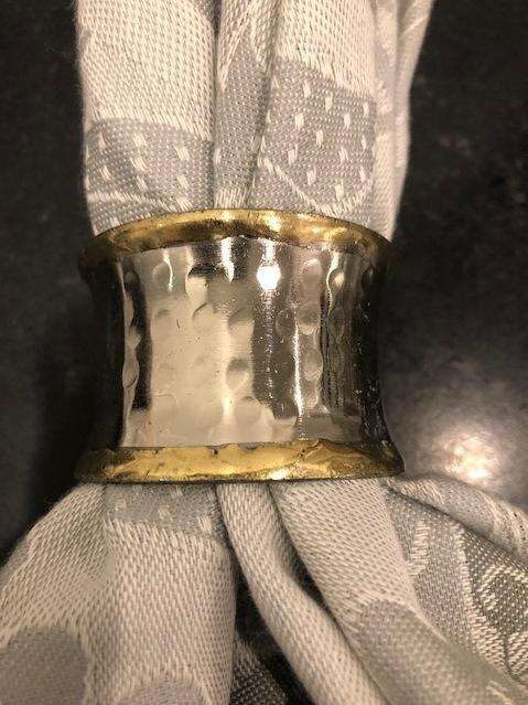 Babcock Exclusives  Bodrum Concave Metallic Napkin Rings set/4 BDR-273 $45.00