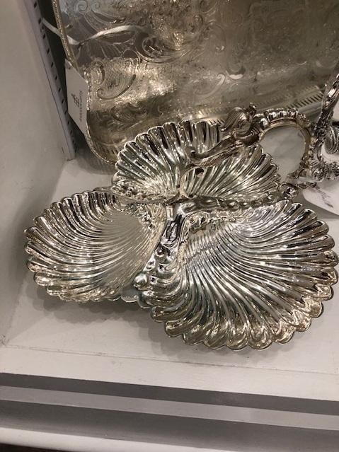 Corbell Silver   Triple Shell Dish CBL-081 $370.00