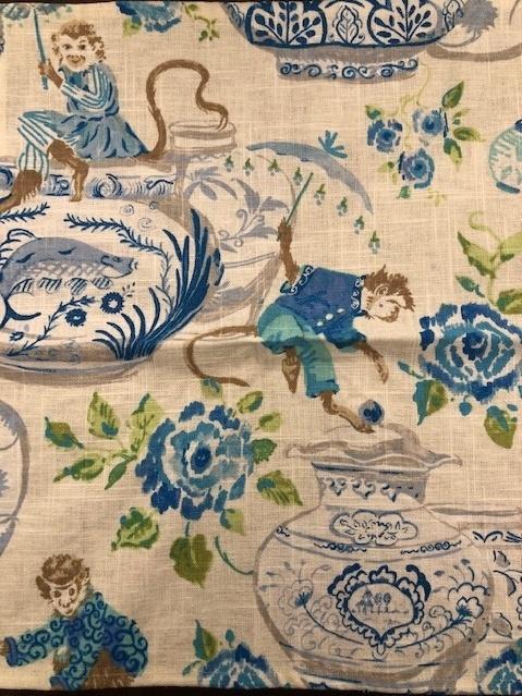 Patricia Spratt for the Home   Monkeyshine Blue Napkin PSH-157 $11.00