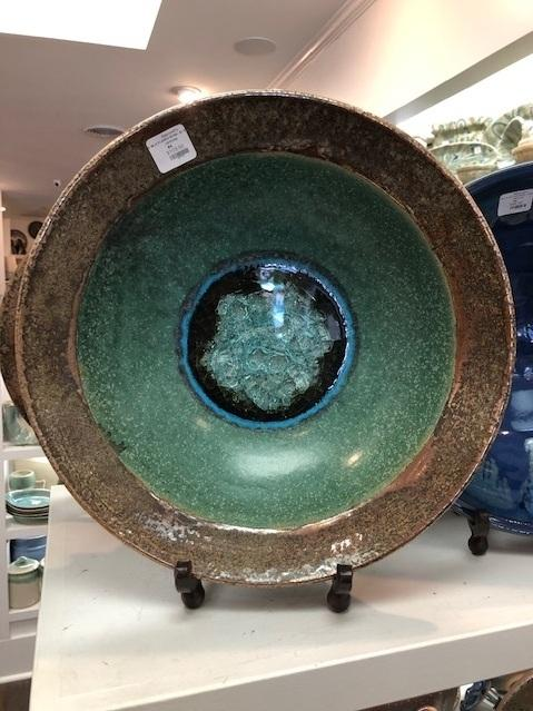 Babcock Exclusives  Kerry Brooks Pottery XL Flared Bowl w/Glass Assorted KER-232 $112.00