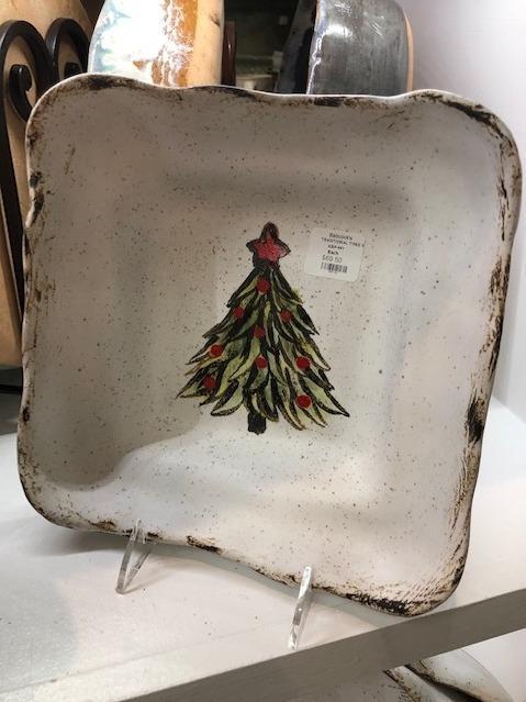 Etta B Pottery  Seasonal Traditional Tree Square Baker EBP-461 $69.50