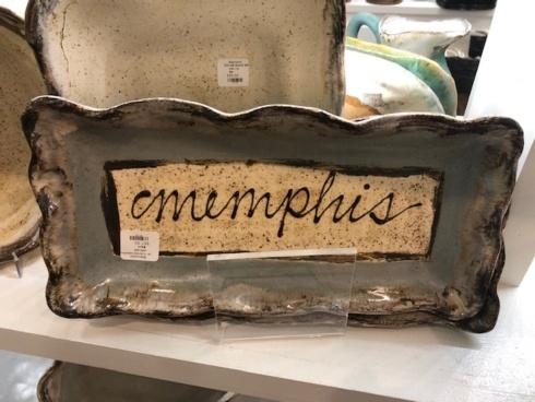 "Etta B Pottery  Decorative 13"" Custom Memphis Tray EBP-369 $67.50"