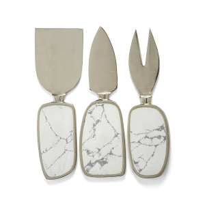 $47.00 Amalfi Cheese Tools White w/Nickel ZOD-062
