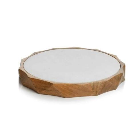 "$105.00 15"" San Ramon Wood & White Marble Board ZOD-056"