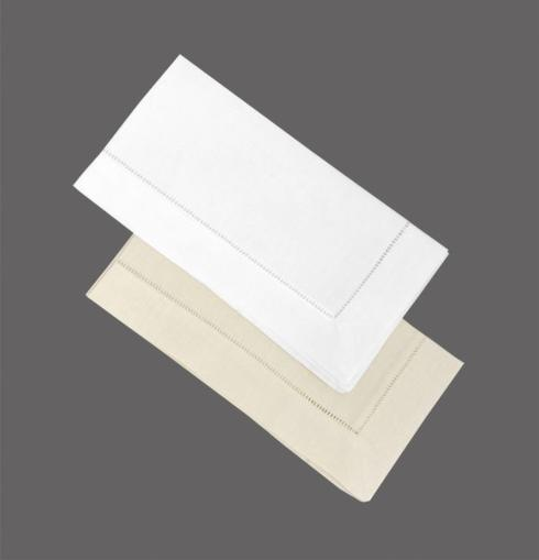 Lins Lace   White Classic Hemstitch Napkin LIS-016 $10.00