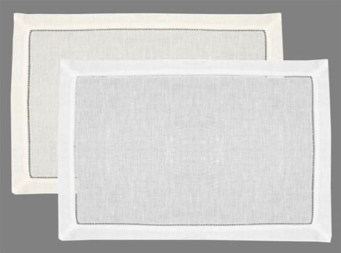 $8.50 White Classic Hemstitch Placemat LIS-017