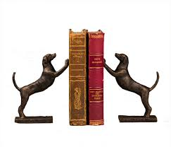 $90.00 Bronze Leaning Hound Bookends DES-140