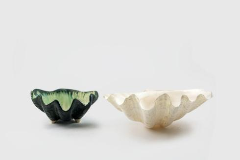 Alison Evans  Mint & Charcoal Small Clam Bowl AEC-020 $93.00