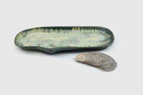 Alison Evans  Mint & Charcoal Medium Razor Clam AEC-014 $82.00
