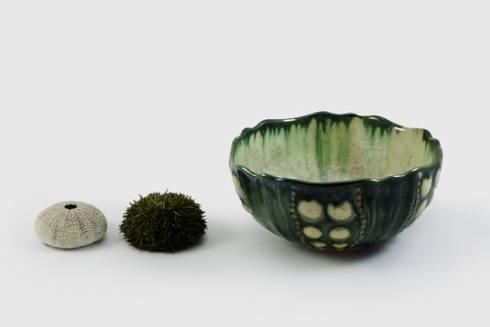 Alison Evans  Mint & Charcoal Small Sea Urchin AEC-017 $97.00