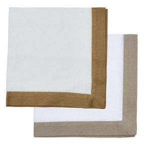 Metallic Band Taupe Napkin DRH-126 collection with 1 products