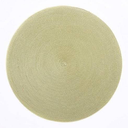 Deborah Rhodes   15 inch Round Mat Moss/Canary DRH-001 $18.00
