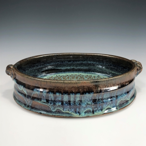 Babcock Exclusives  Steve Tubbs Pottery Blue Galaxy Md Oval Casserole STP-008 $75.00
