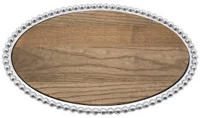 Mariposa   Pearled Oval Cheese Board MAR-390 $148.00