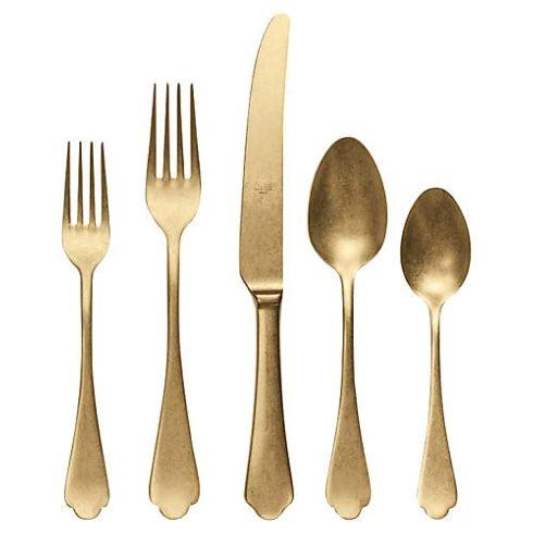 Mepra  Dolce Vita Ice Oro 5pc Place Setting MPR-111 $151.00