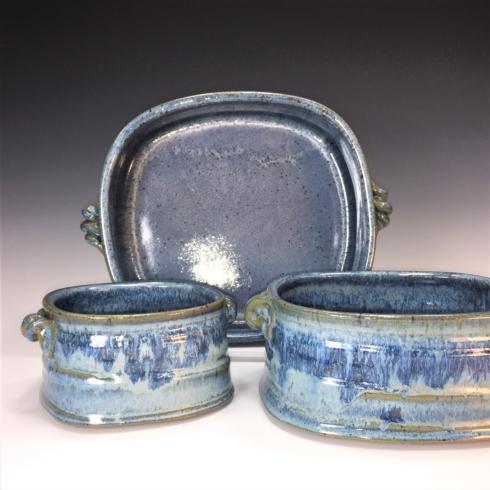 Babcock Exclusives  Steve Tubbs Pottery Blueberry Large Rectangular Baker STP-135 $85.00
