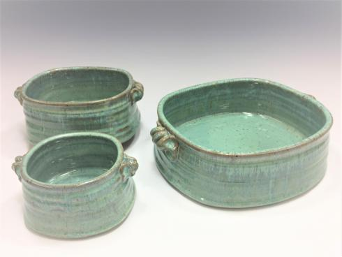 Babcock Exclusives  Steve Tubbs Pottery Sea Spray Opal Large Rectangular Baker STP-106 $85.00