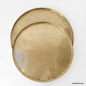 Roost   Medium Crinkle Tray/Brass RST-244 $62.00