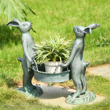 $147.00 Bunny Gardeners Pot Holder SPC-046