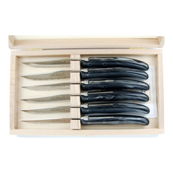 Claude Dozorme   Grey Steak Knives set/6 CDZ-037 $175.00