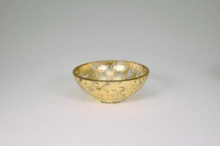 Tamara Childs   6x2.5 Bubble Glass Bowl Gold Wabi Sabi TCH-052 $44.00