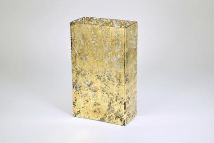 "$88.00 10"" Tall Vase Gold Wabi Sabi TCH-156"