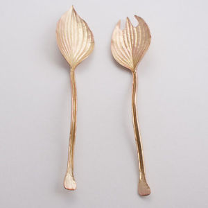 Michael Michaud Table Art   Hosta Antique Bronze Serving Set TAR-108 $73.00