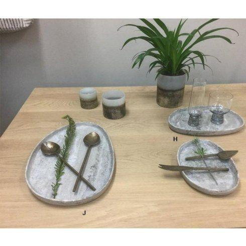 Roost   Large Pebble Greige Marble Tray RST-017 $99.00