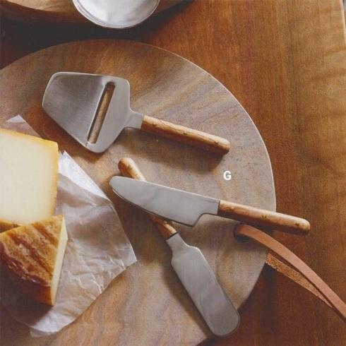 Babcock Exclusives  Roost Shapely Teak Cheese Knives set/3 RST-029 $56.50