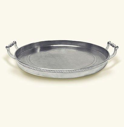 $790.00 Round Gallery Tray w/Handles MTH-280