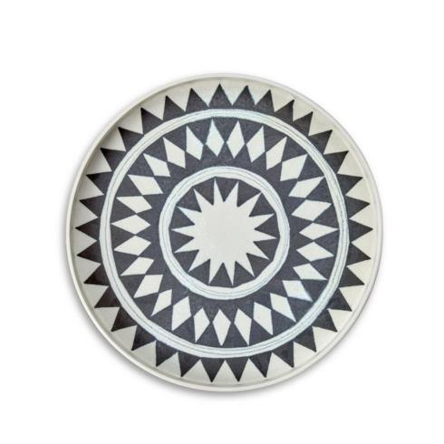 L'Objet  Serving Pieces and Utensils Tribal Diamond Medium Round Platter LO-288 $165.00