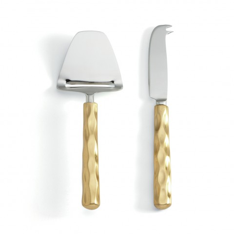 Michael Wainwright   Truro Gold Cheese Knife&Server Set   MWP-152   $85.00