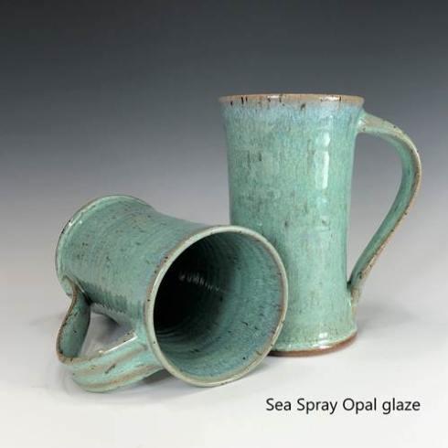 Babcock Exclusives  Steve Tubbs Pottery Sea Spray Opal Tall Cafe Mug STP-099 $30.00