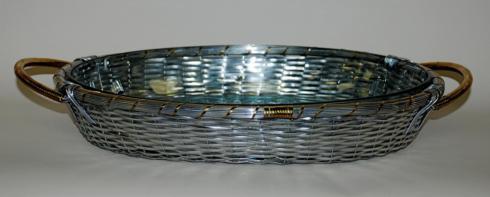 Dessau   Oval Aluminum Basket w/Pyrex DES-176 $62.00