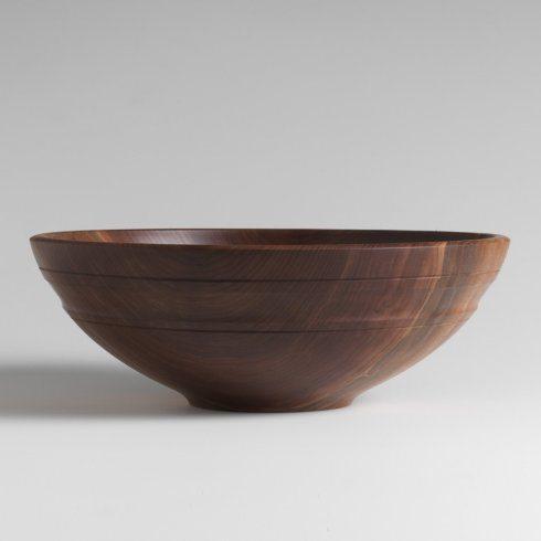 "$460.00 Black Walnut 17"" Willoughby Bowl ADP-001"