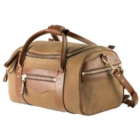 Babcock Exclusives  Mission Mercantile Smoke/Brown Medium Duffle MSM-102 $339.00