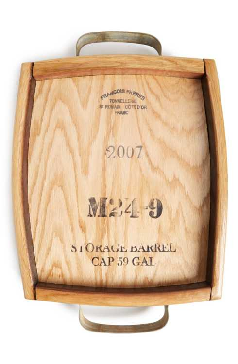 Old River Road   Reclaimed Wine Stave Cheese Tray ORR-030 $148.00