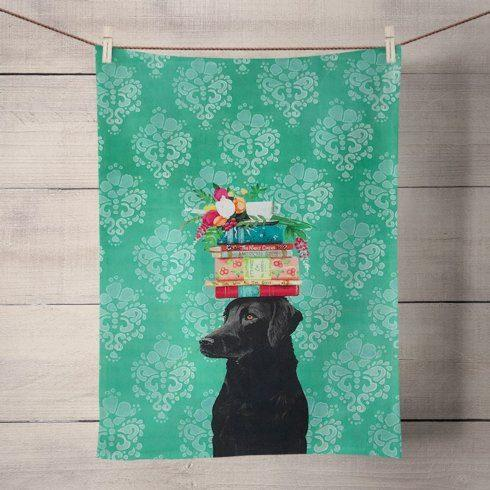 Babcock Exclusives  Greenbox Art A Woman's Best Friend Tea Towel GBA-003 $13.50