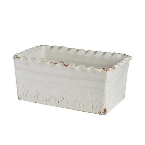 Abigails   Puglia White Rectangular Planter ABI-206 $215.00