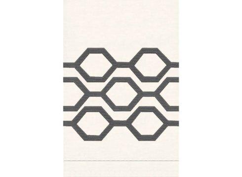 $33.00 Honeycomb White Linen Guest Towel ANI-136