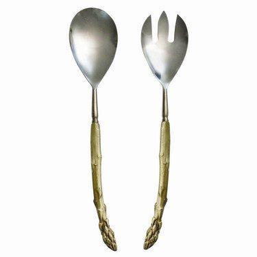 $118.00 Asparagus Grey Plate Serving Set TAR-111