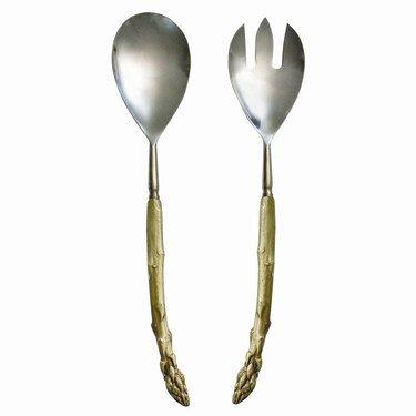 $138.00 Asparagus Grey Plate Serving Set TAR-111