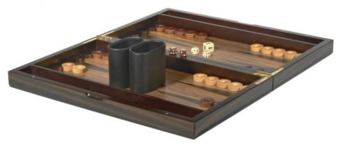 "$136.00 15"" Ebony Backgammon Set TIZ-711"