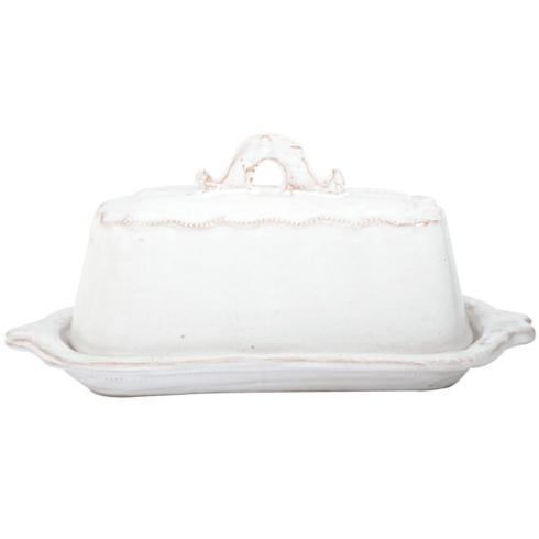 Bellezza White Butter Dish VIX-597