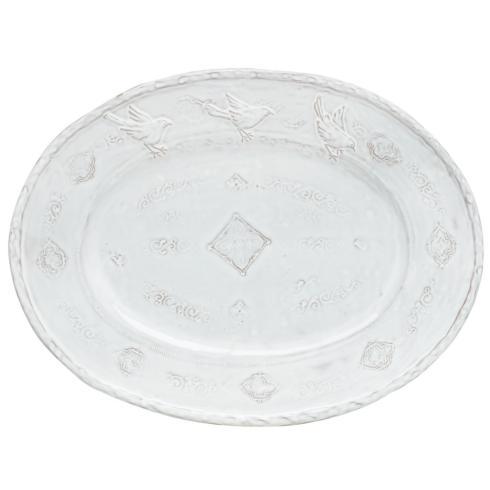 Vietri   Bellezza White Large Oval Platter VIX-837 $155.00