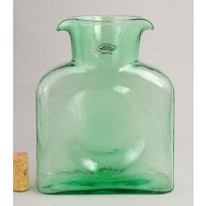 Blenko Glass Co   Water Bottle Classic Spr. Green BG-015 $52.00